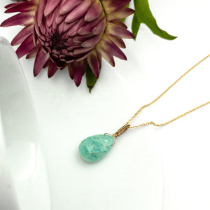 JENNY JENSEN - Amazonite Drop Necklace