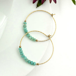 JENNY JENSEN - Amazonite Hoop Earrings