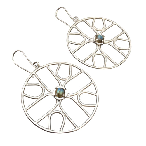 JENNY WINDLER - Sym Earrings w/ Labradorite Gems
