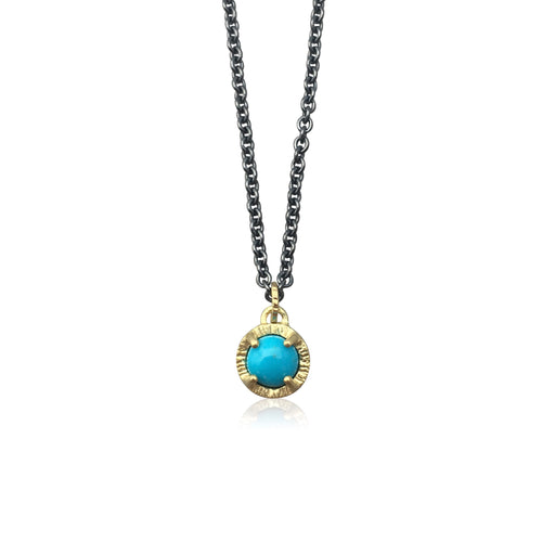 JENNY WINDLER - Juju Necklace w/ Sleeping Beauty Turquoise Gem