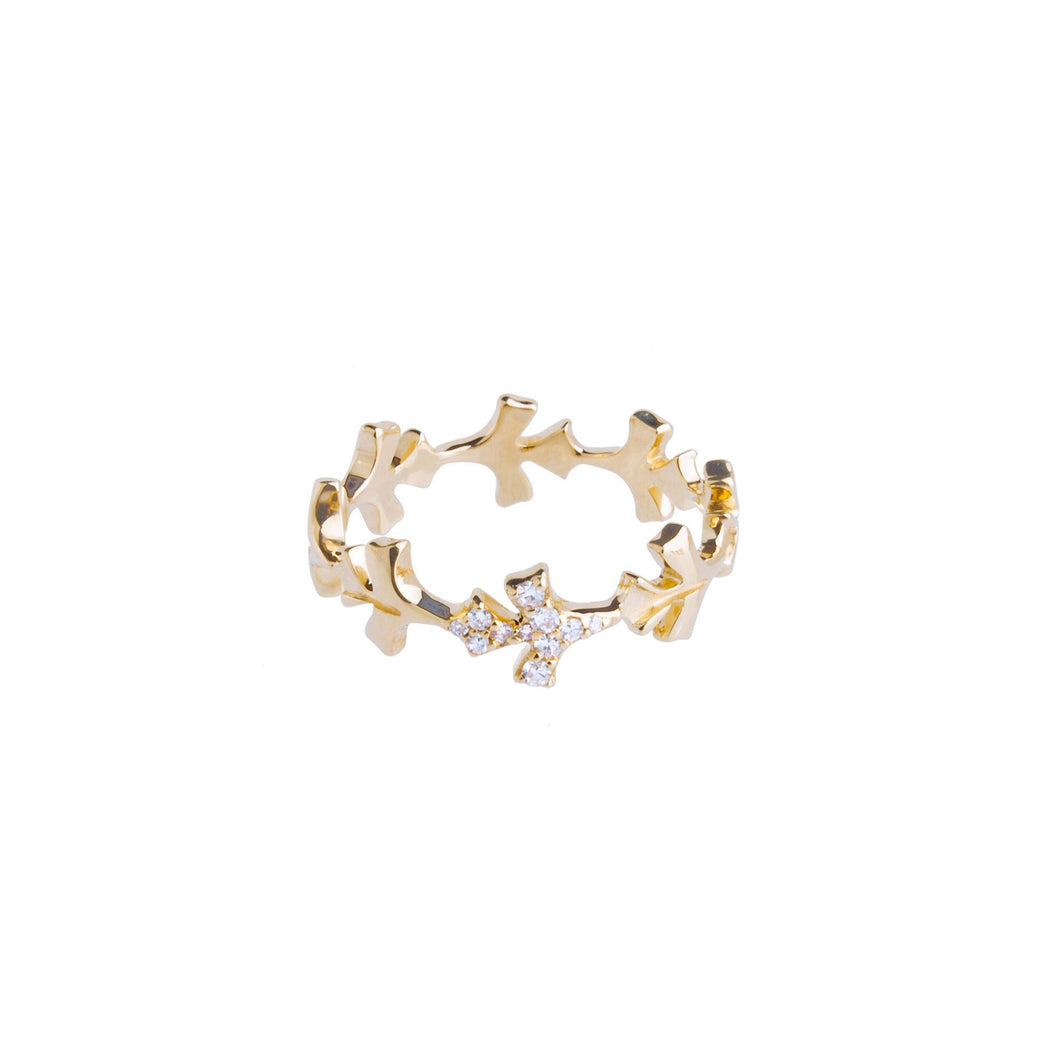 LEE JONES - Petal Diamond Eternity Band