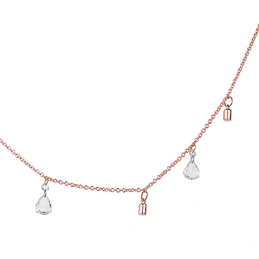 LEE JONES - Fairy Dust Necklace with Floating Diamonds