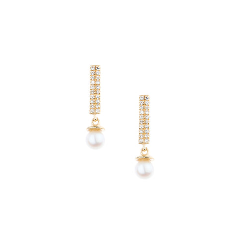 LEE JONES - Pearl BonBon & Diamond Candy Bar Earrings