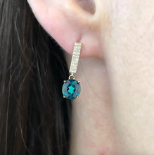 LEE JONES - Tourmaline & Diamond Candy Bar Earrings