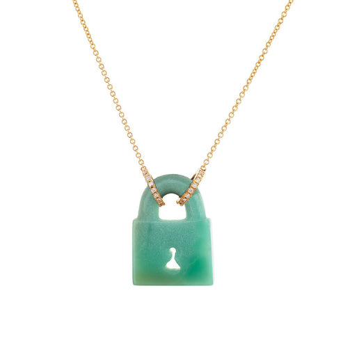 LEE JONES - Chrysoprase Padlock Necklace