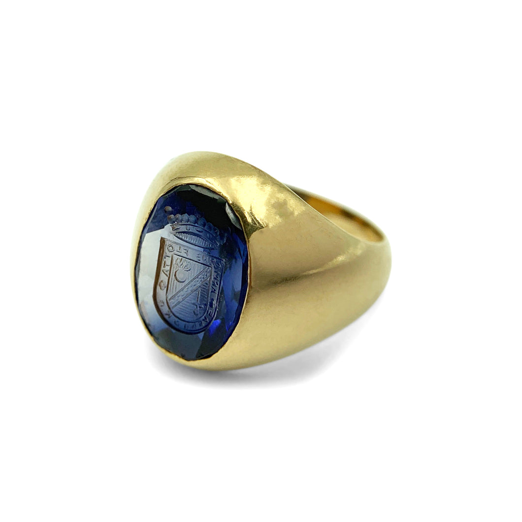 LOVE AND THE MAIDEN - Intaglio Signet Ring