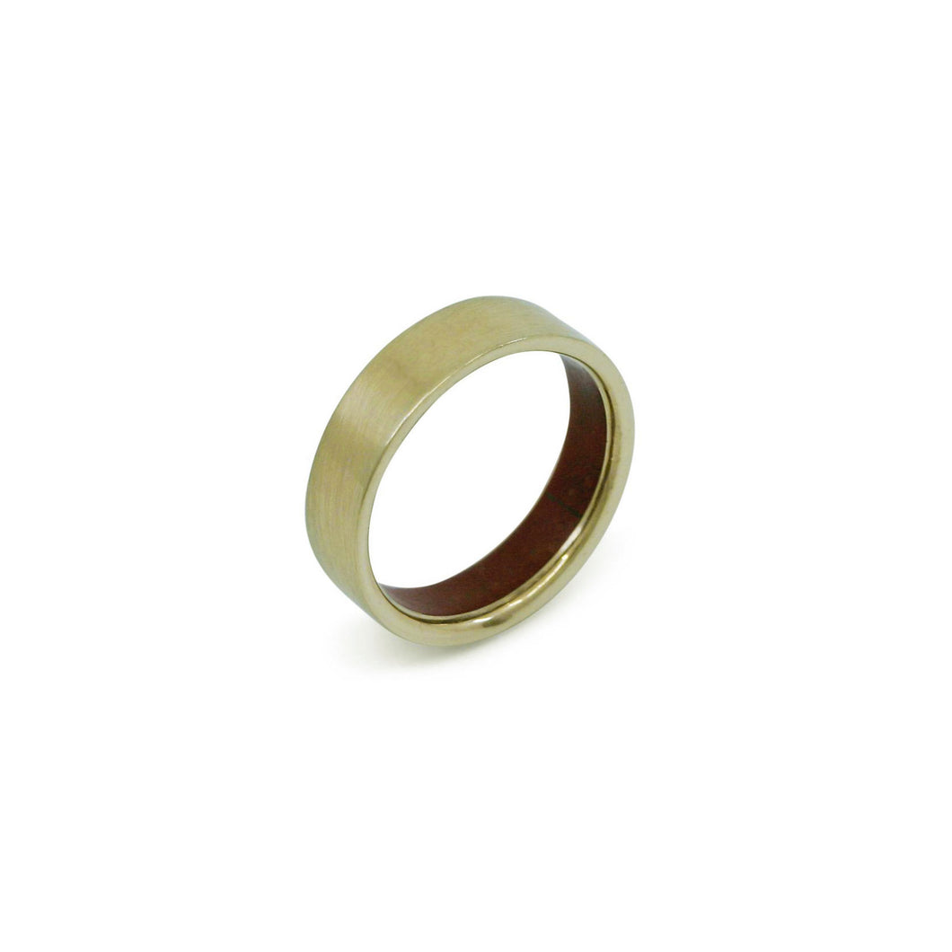 MERCURIUS - 14k Yellow Gold Ring w/ Red Jasper Inlay