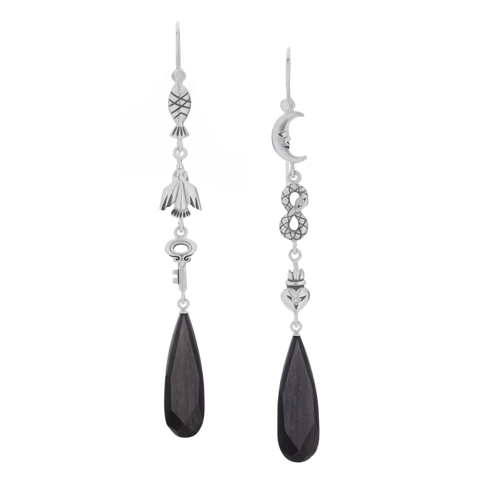 MELISSA SCOPPA - 6 Symbol Ebony Earrings