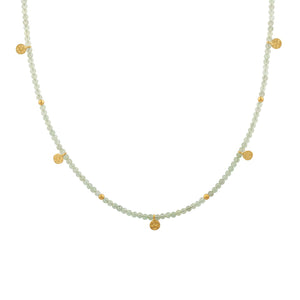 MANJUSHA JEWELRY - Green Amethyst Iris Necklace