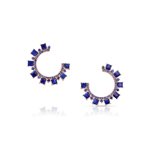 MEREDITH YOUNG - Sapphire Hoop Studs