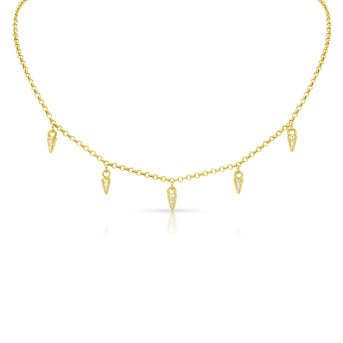 MEREDITH YOUNG - Mini Nail Diamond Necklace