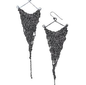 MOSS FOLLOWS - Large Chunky Triangle Earrings