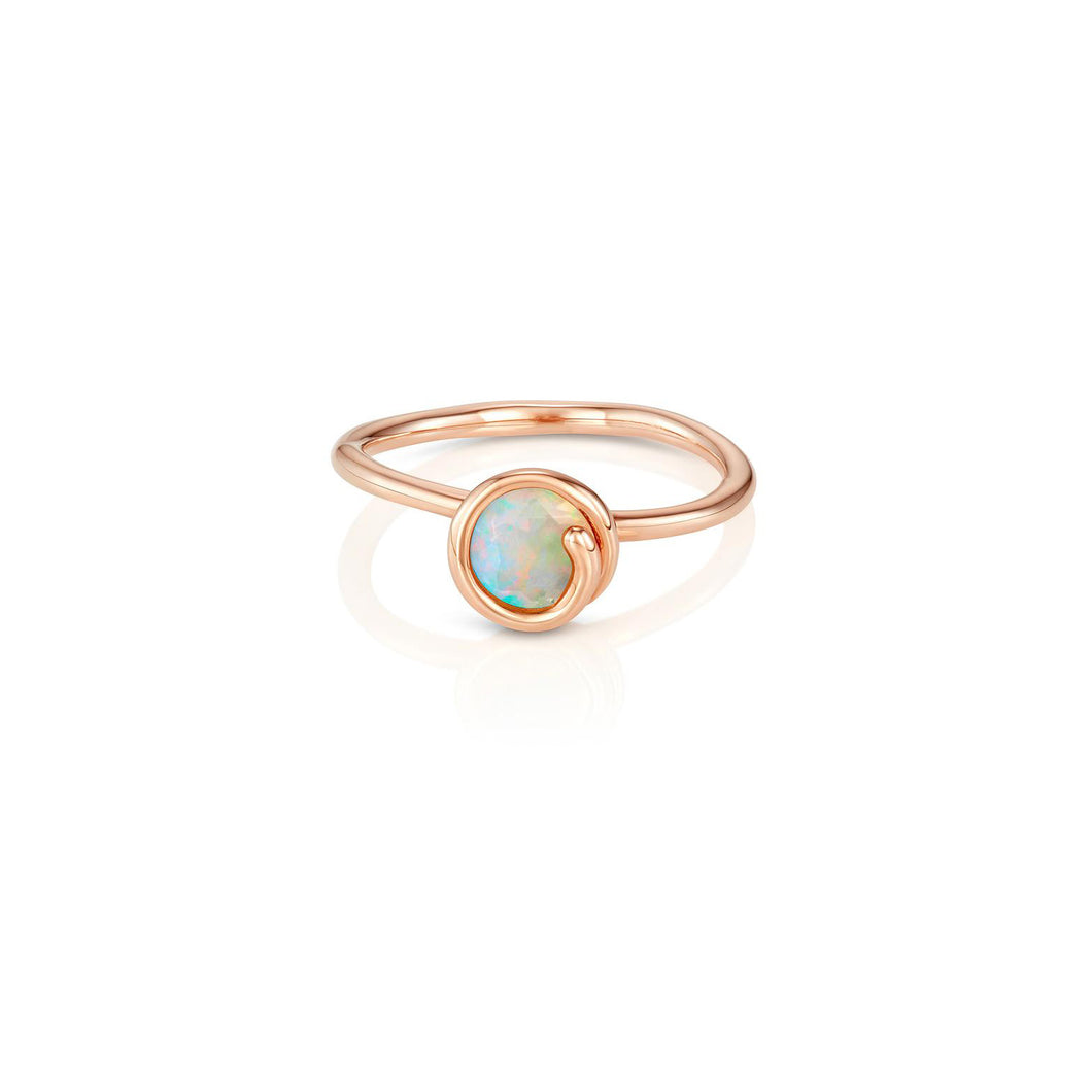 S/H KOH -  Opal Scroll Ring