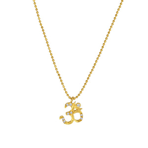 SUNEERA - Aum Pave Charm Necklace