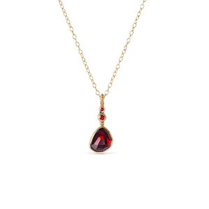 SVETLANA LAZAR - Red Elixir Pendant Necklace