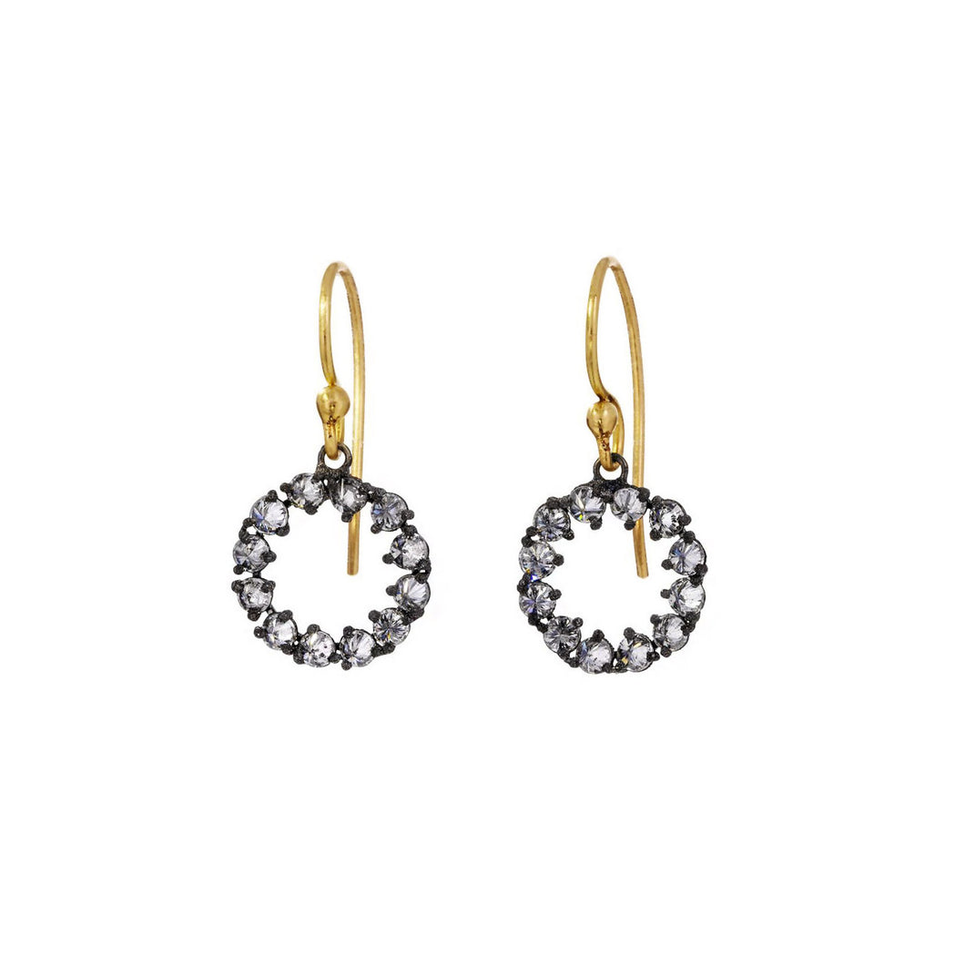 TODD POWNELL - Yellow & Blackened Gold Earrings w/ Inverted Diamonds