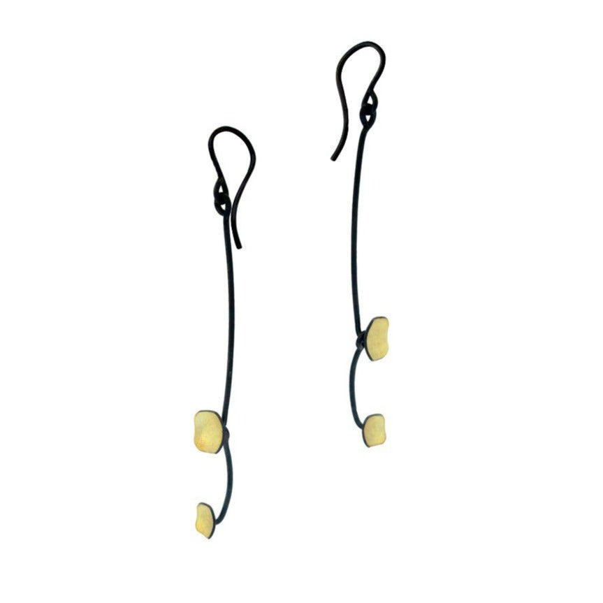 OWEN MCINERNEY - Oxidized Earrings w/ 18k Gold Accents