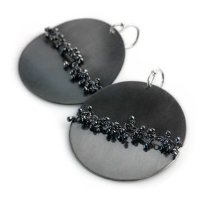 WENDY STAUFFER - Midnight Circle Earrings