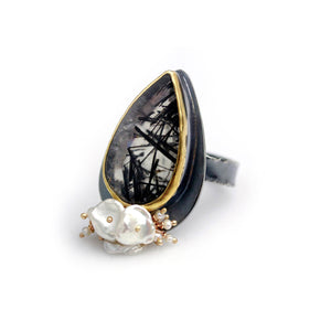 WENDY STAUFFER - Tourmalinated Quartz Ring