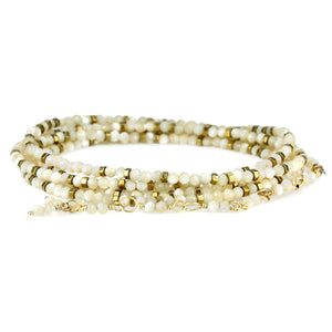 ANNE SPORTUN - Wrap Bracelet w/ Mother of Pearl Beads