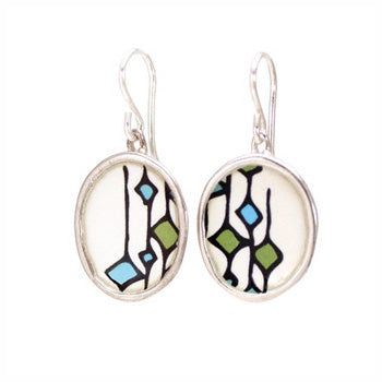 MARK POULIN - Modern Enamel Earrings