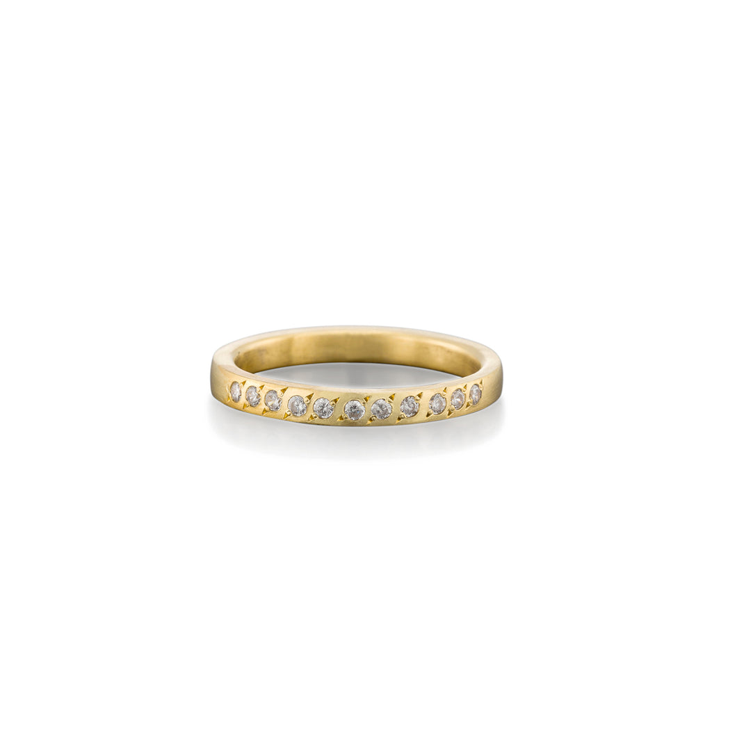 RAVIT KAPLAN - Half Eternity Diamond Ring