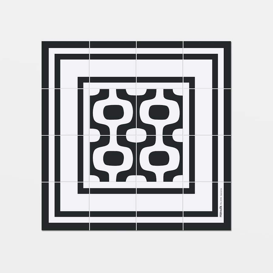 Hidraulik square vinyl coasters tile pattern Ipanema design