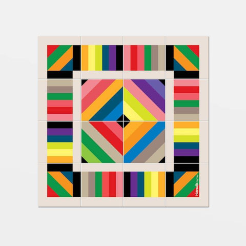 Hidraulik square vinyl coasters tile pattern Tamarit design