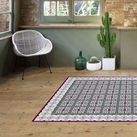 Hidraulik vinyl floor mats rugs and runners Ganduxer design