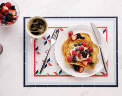 Hidraulik rectangular vinyl placemat Gloria design