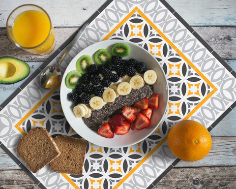 Vinyl Washable rectangular placemat Hidraulik Letamendi