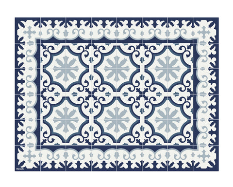 Hidraulik vinyl waterproof heat-safe rectangular placemats Avenir Blue design