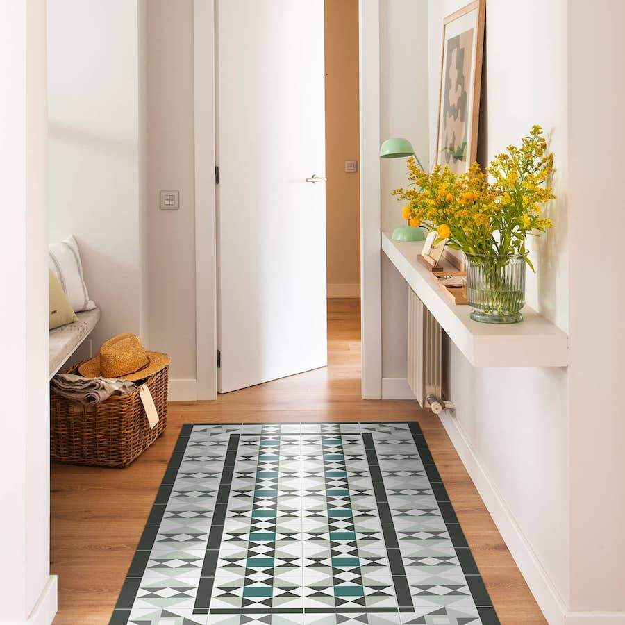 Hidraulik vinyl floor mats rugs and runners Tusset design