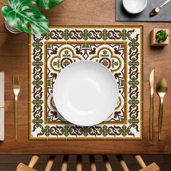 Hidraulik square vinyl placemats tile pattern Claris design