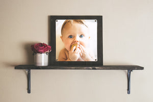 Custom Square Photo Print on Reclaimed Wood Frame