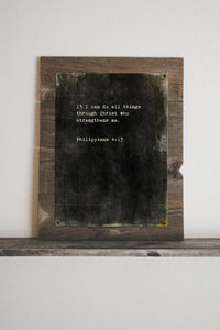 I Can Do All Things Through Christ Who Strengthens Me... Philippians 4:13 Vintage Metal Framed Print