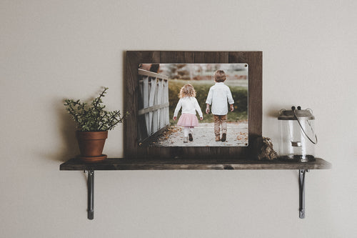 Custom Horizontal Photo Print on Reclaimed Wood Frame
