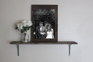 Custom Vertical Photo Print on Reclaimed Wood Frame