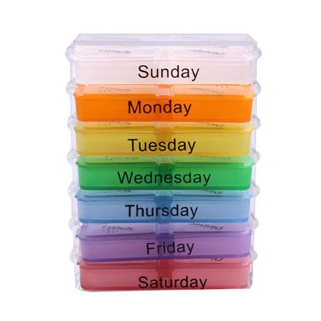Weekly Pop-Up Medication Organizer