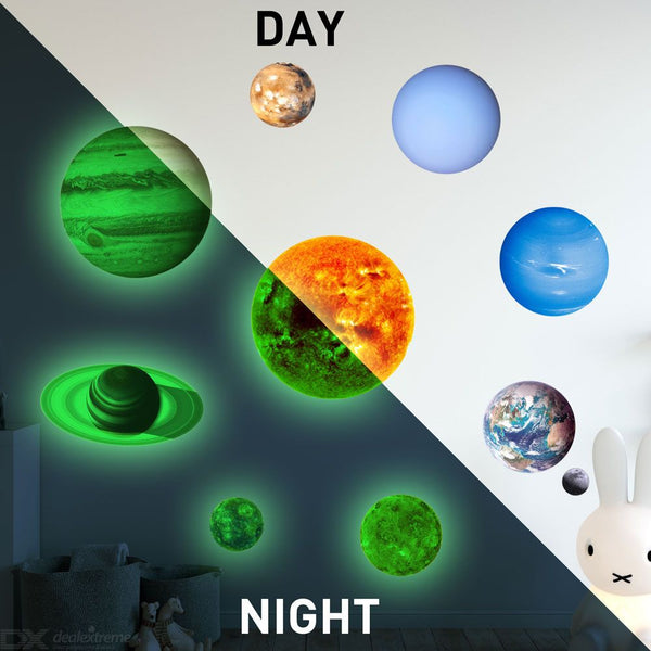 Glowing Solar System Wall Stickers