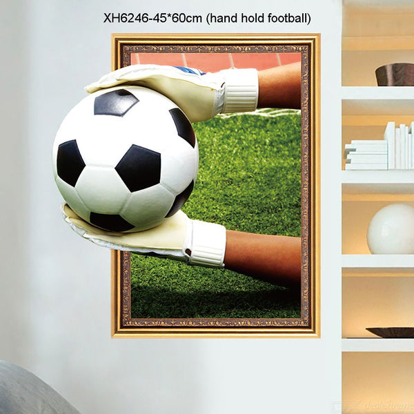 3D  Football Decorative Vinyl Wall  Decals