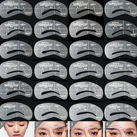 24Styles/Set Reusable Eyebrow Stencil Brow Shaping Template Makeup Beauty Tool
