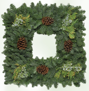 Square Noble Fir Wreath
