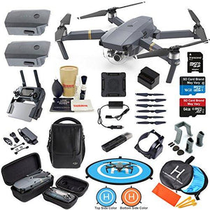 DJI Mavic Pro Drone Quadcopter Fly More Combo with 3 Batteries, 4K Professional Camera Gimbal Bundle Kit with Must Have Accessories - Pro Travel Gear ShopDroneDJI