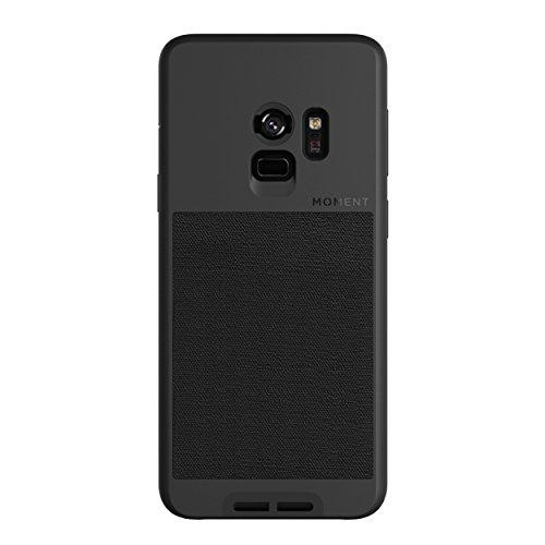 Galaxy S9 Case || Moment Photo Case in Black Canvas - Thin, Protective, Wrist Strap Friendly case for Camera Lovers. - Pro Travel Gear ShopWirelessMoment