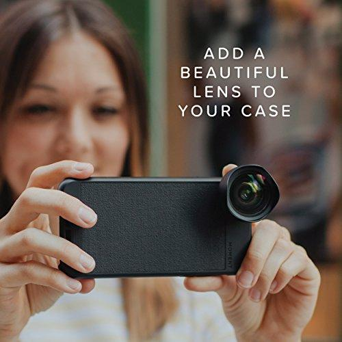 iPhone 8 / iPhone 7 Case || Moment Photo Case in Black Canvas - Thin, Protective, Wrist Strap Friendly case for Camera Lovers. - Pro Travel Gear ShopWirelessMoment