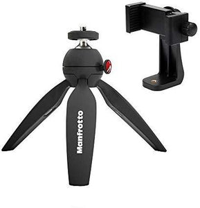 Manfrotto MTPIXI PIXI Mini Tripod, with ZAYKiR Universal Smartphone Tripod Adapter - Pro Travel Gear ShopPhotographyManfrotto