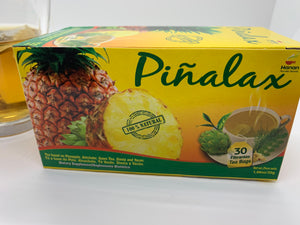 Pineapple Pinalax  Tea for Weight Loss and Detox with Artichoke, Green Tea, Yacon and Stevia - 100% Natural from Peru (30 Tea Bags)