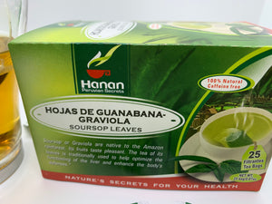 Graviola Soursop Leaves Natural Tea - (25 Tea Bags ) to Optimize Liver function and enhance body's defense.