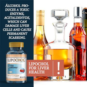 LIPOCHOL Natural Liver Cleanser Detox Supplement Cleanse & Support Liver Health ( 100 Caps Bottle)